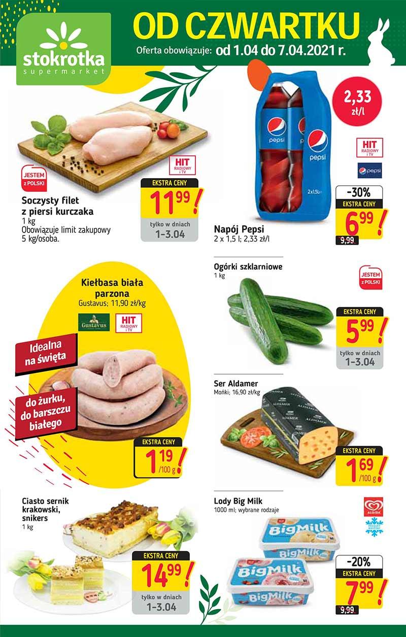 Stokrotka Supermarket, Gazetka od 1 kwietnia 2021