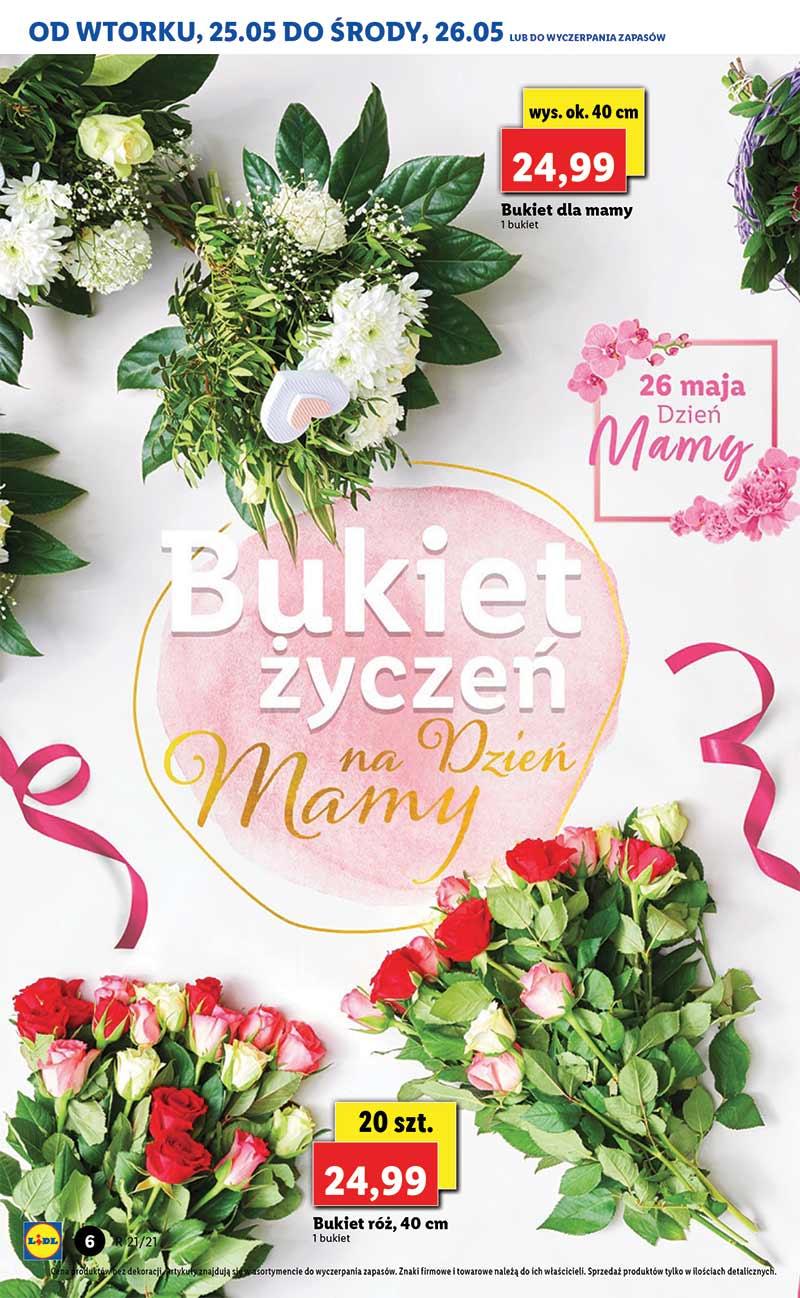 Lidl, Dzień Matki, od 25 maja do 26 maja 2021