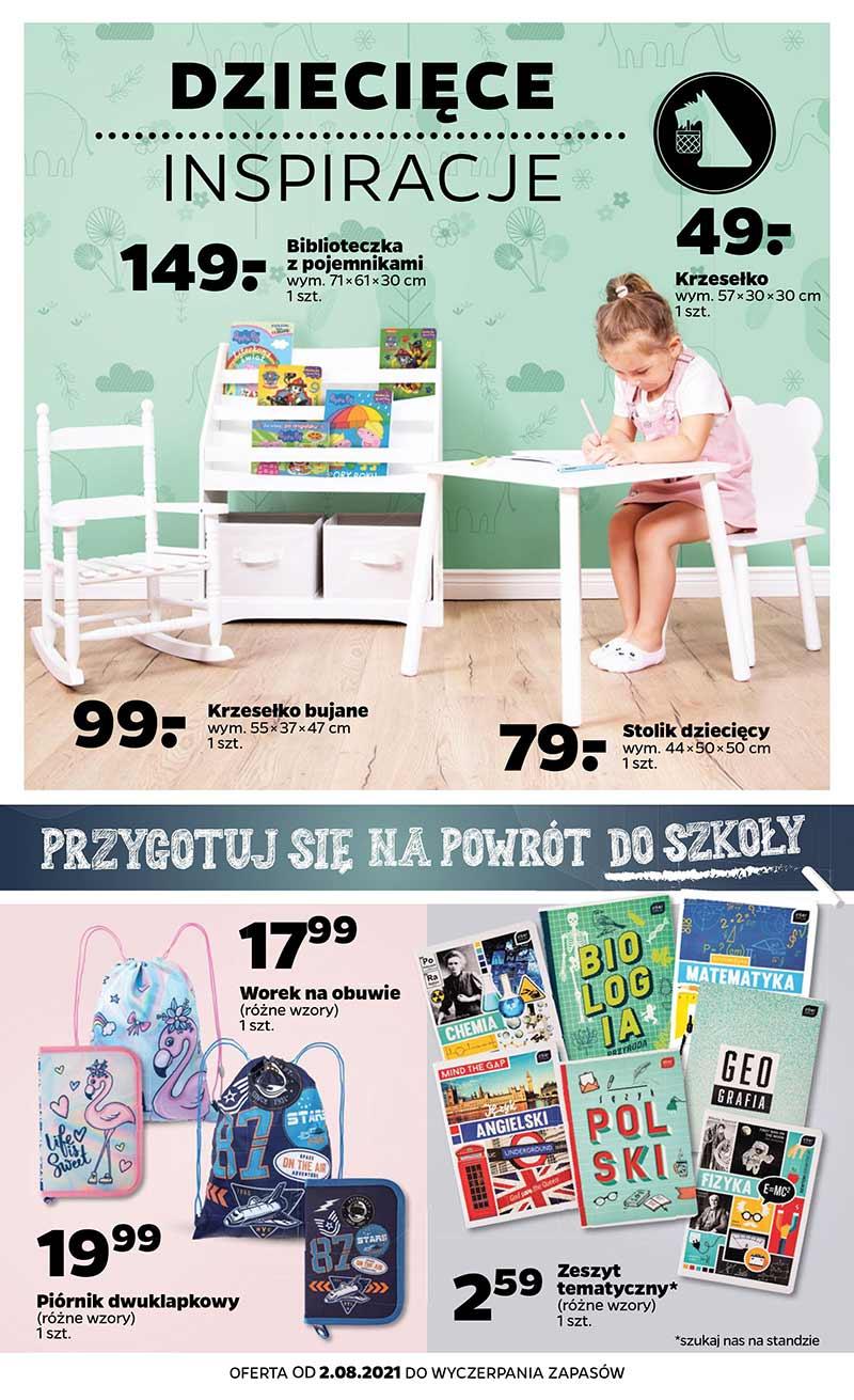 Netto Dziecięce inspiracje gazetka od 2 sierpnia 2021