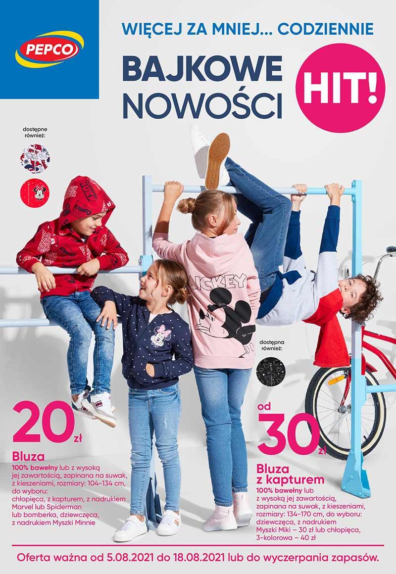 PEPCO Bajkowe nowości Gazetka od 5 sierpnia 2021